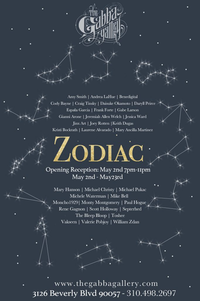 Zodiac Exhibit Flyer