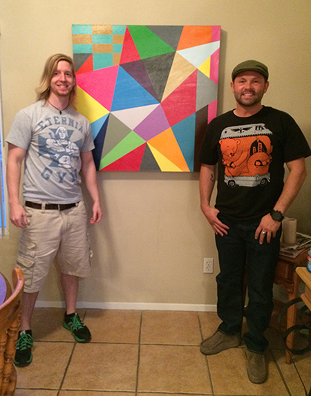 "Ben and I with ""Moment #5"" at his home in Las Vegas, NV"